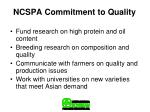 ncspa commitment to quality
