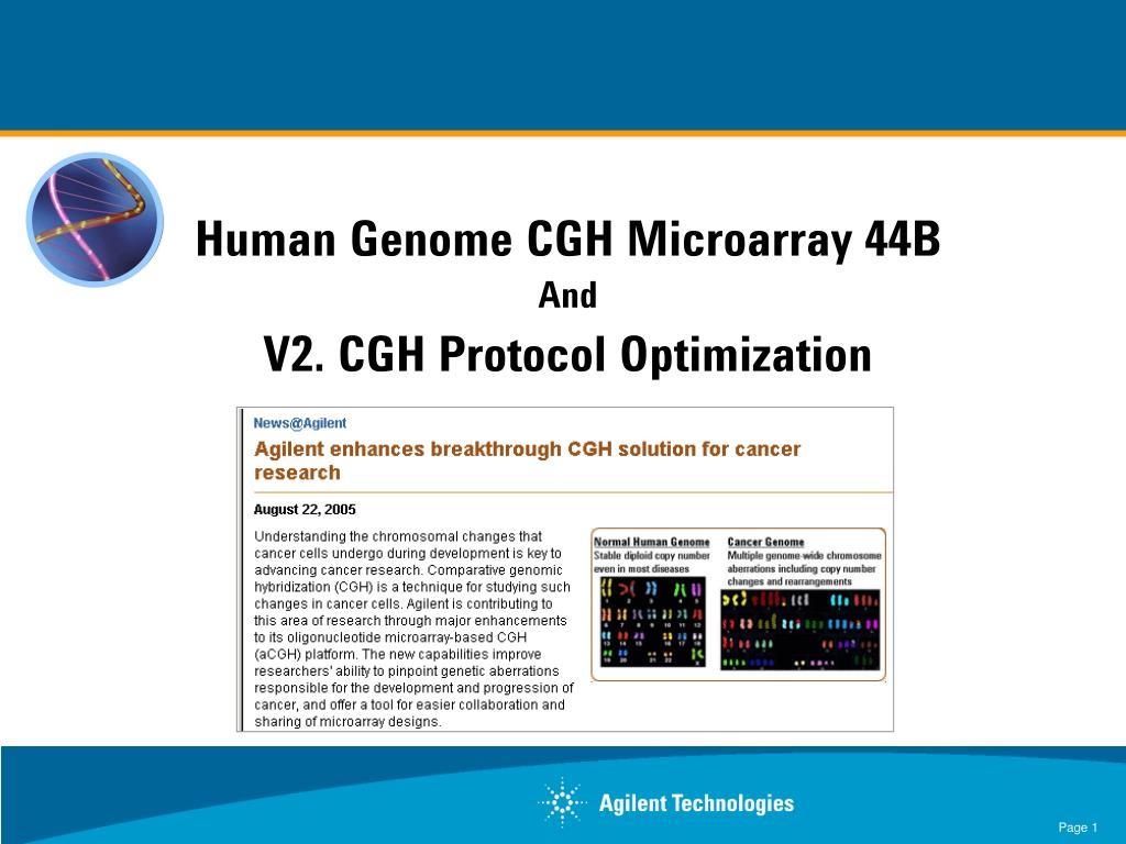 Human Genome CGH Microarray 44B