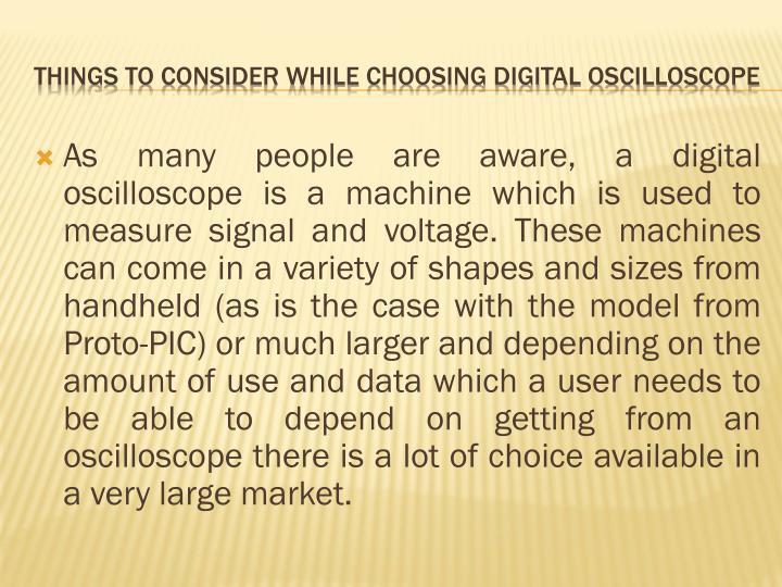 Things to consider while choosing digital oscilloscope2