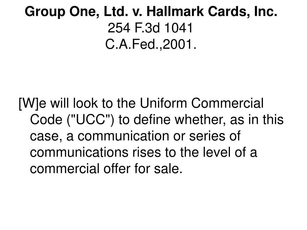 Group One, Ltd. v. Hallmark Cards, Inc.