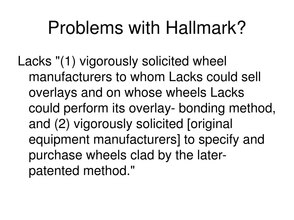 Problems with Hallmark?