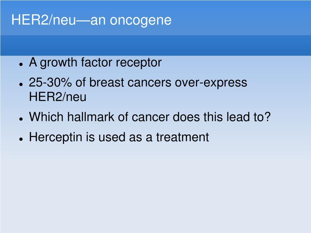 HER2/neu—an oncogene