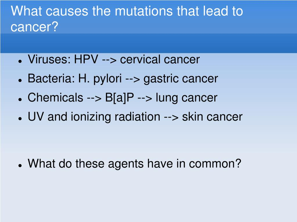 What causes the mutations that lead to cancer?
