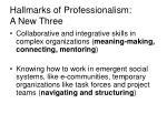 hallmarks of professionalism a new three