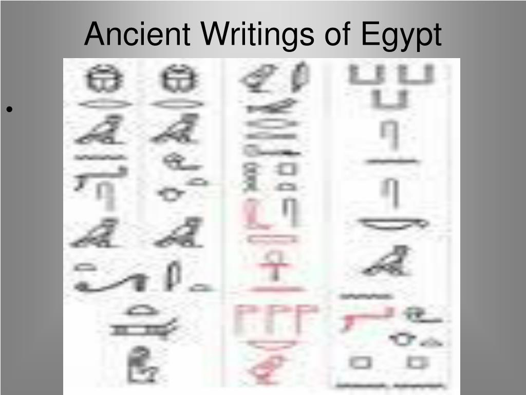 Ancient Writings of Egypt