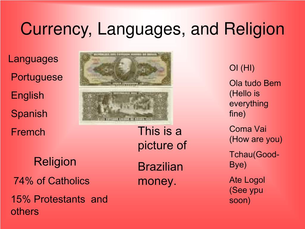 Currency, Languages, and Religion