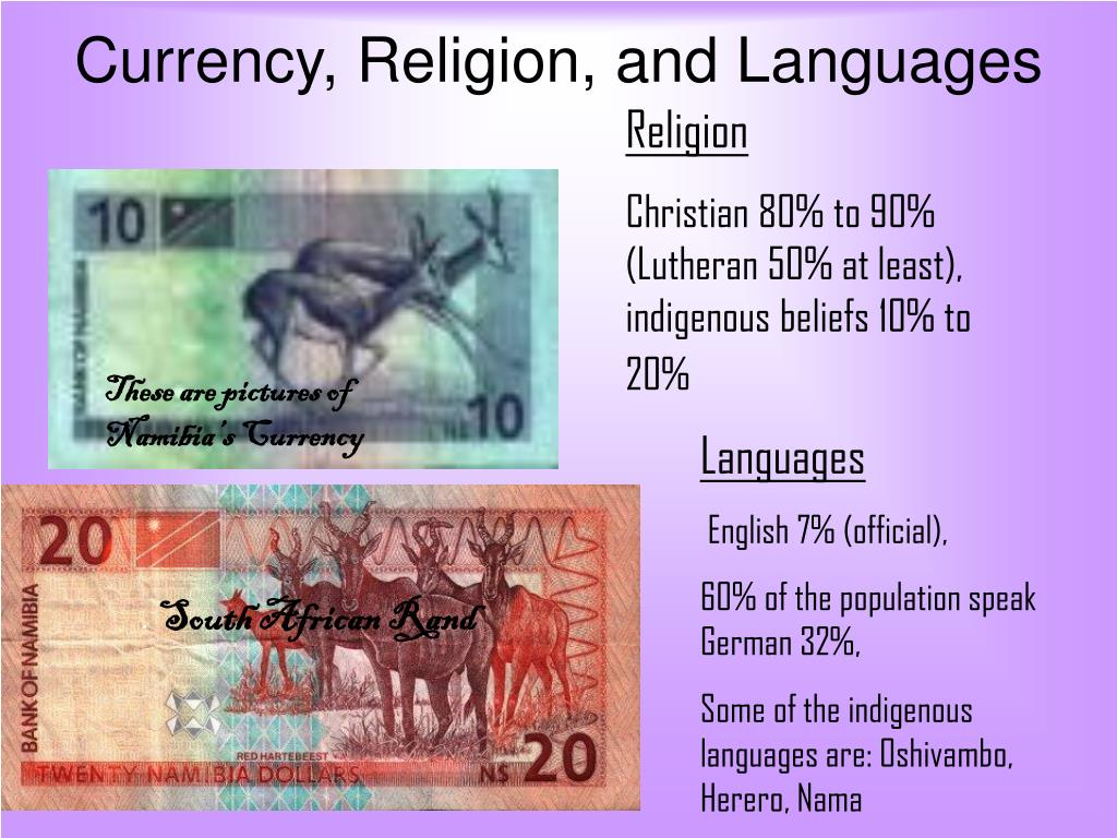 Currency, Religion, and Languages
