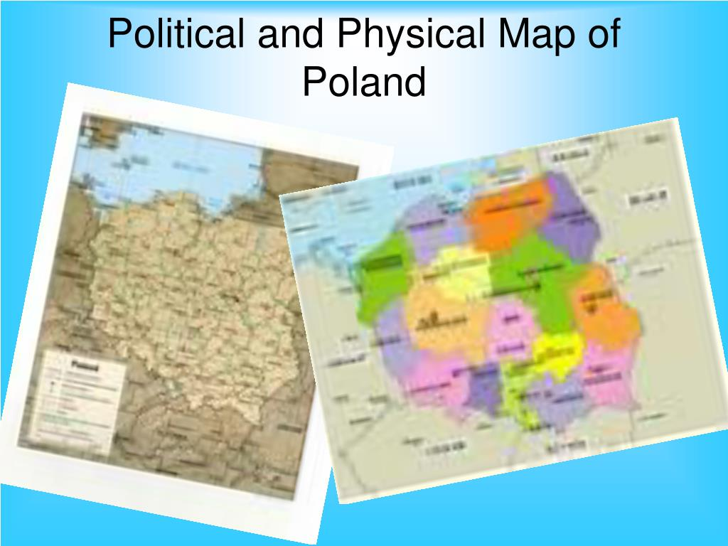 Political and Physical Map of Poland