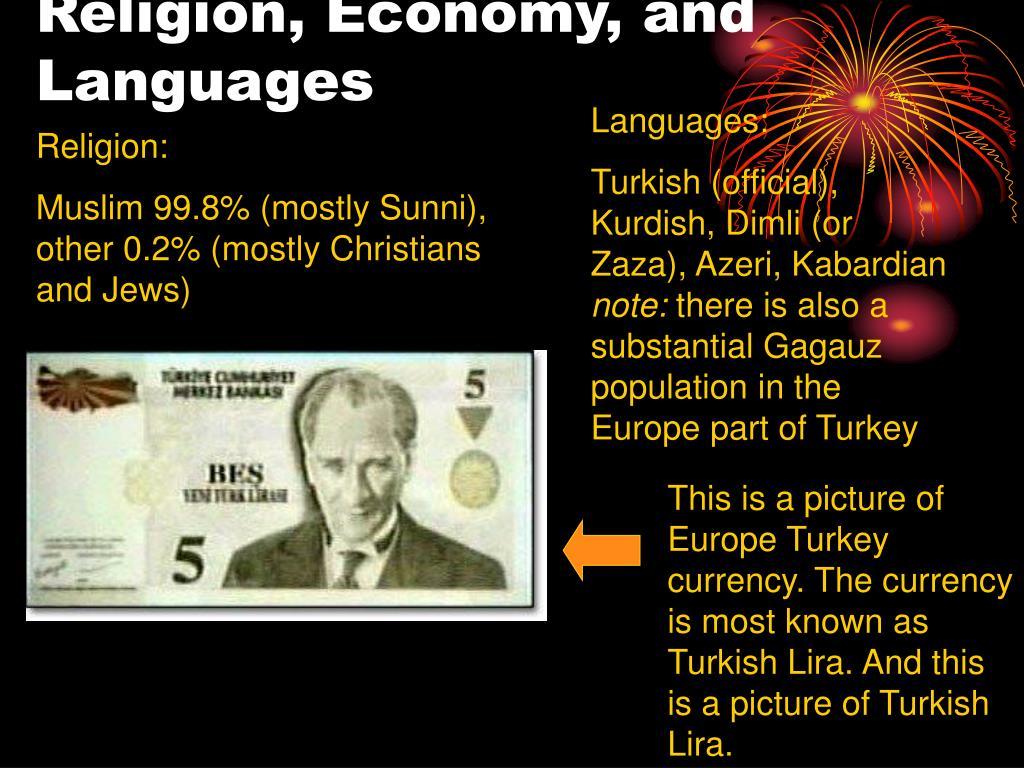 Religion, Economy, and Languages