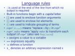 language rules