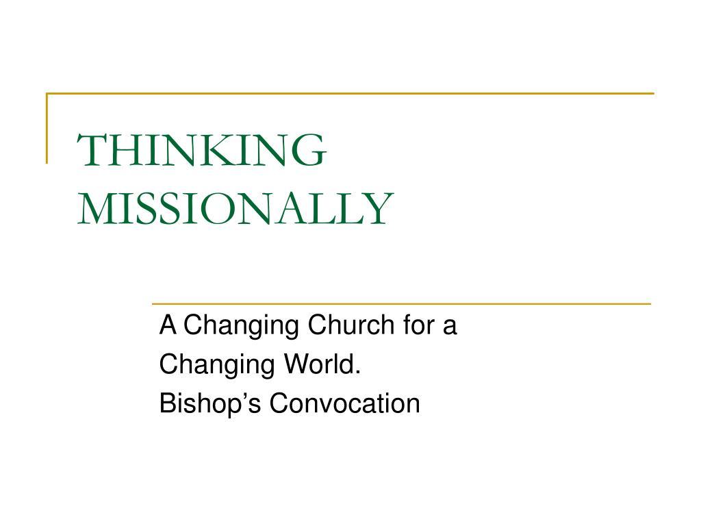 thinking missionally