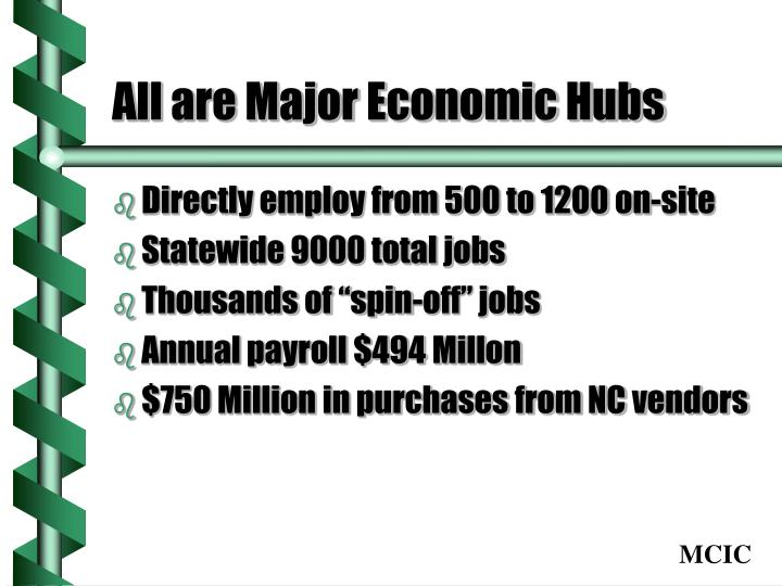All are major economic hubs