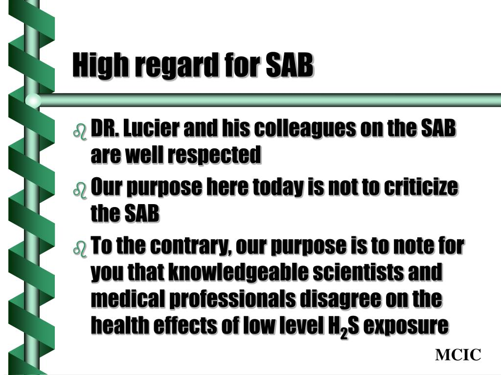 High regard for SAB