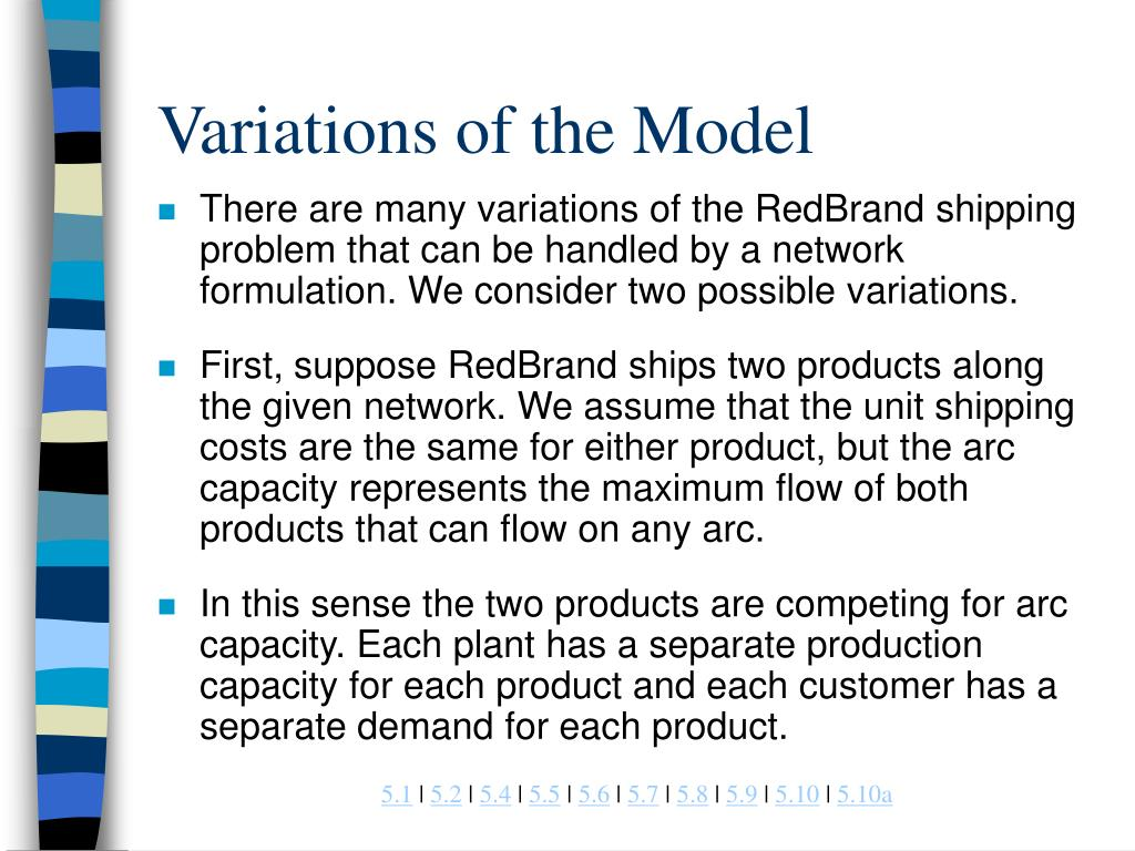 Variations of the Model