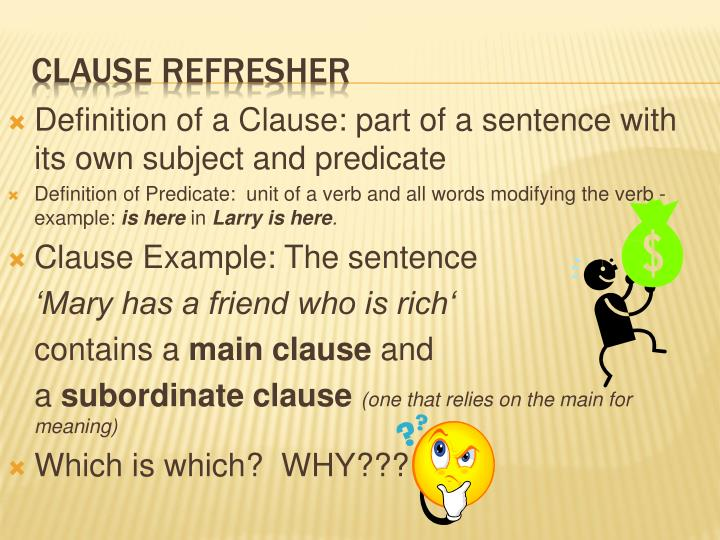 Clause refresher