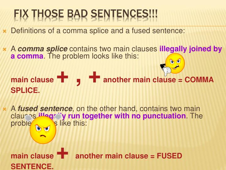 Fix those bad sentences