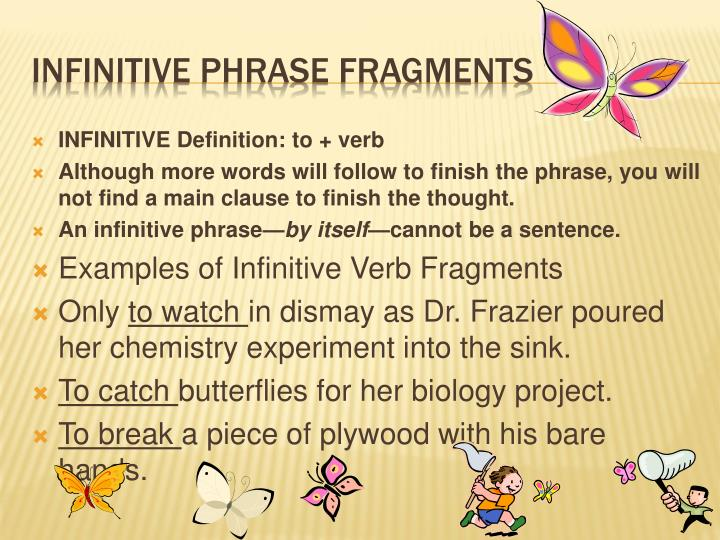 INFINITIVE Definition: to + verb