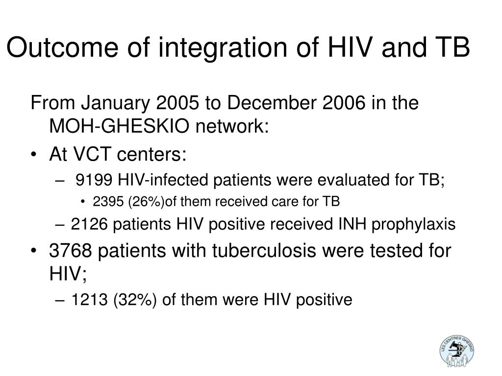 Outcome of integration of HIV and TB