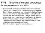 five absence of cultural awareness in response reconstruction17