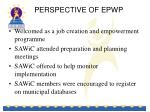 perspective of epwp