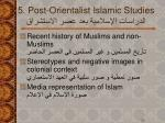 5 post orientalist islamic studies