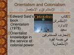 orientalis m and colonialism