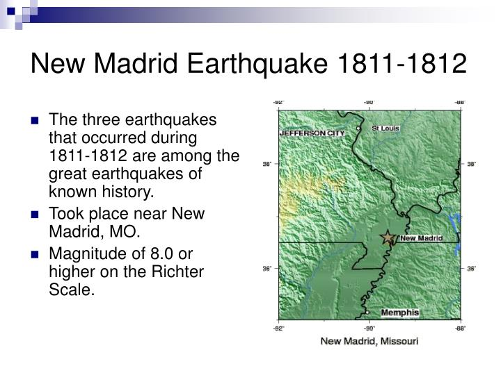 New madrid earthquake 1811 1812