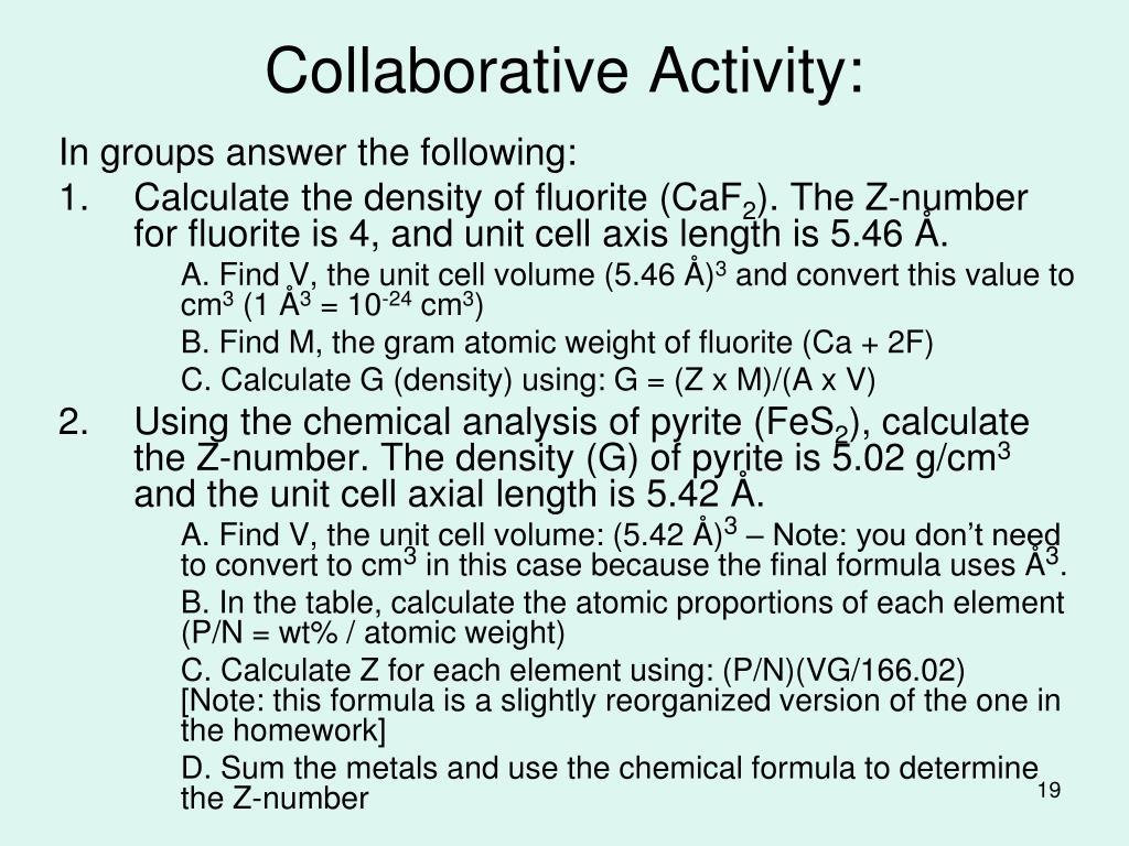 Collaborative Activity: