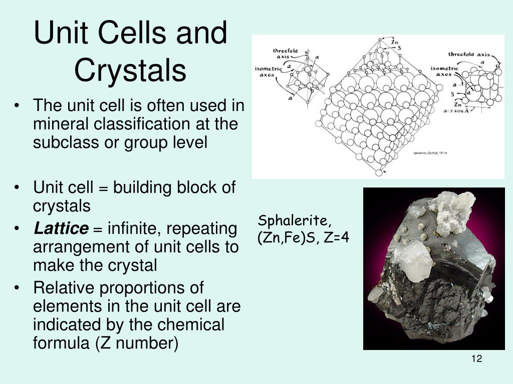 Unit Cells and Crystals