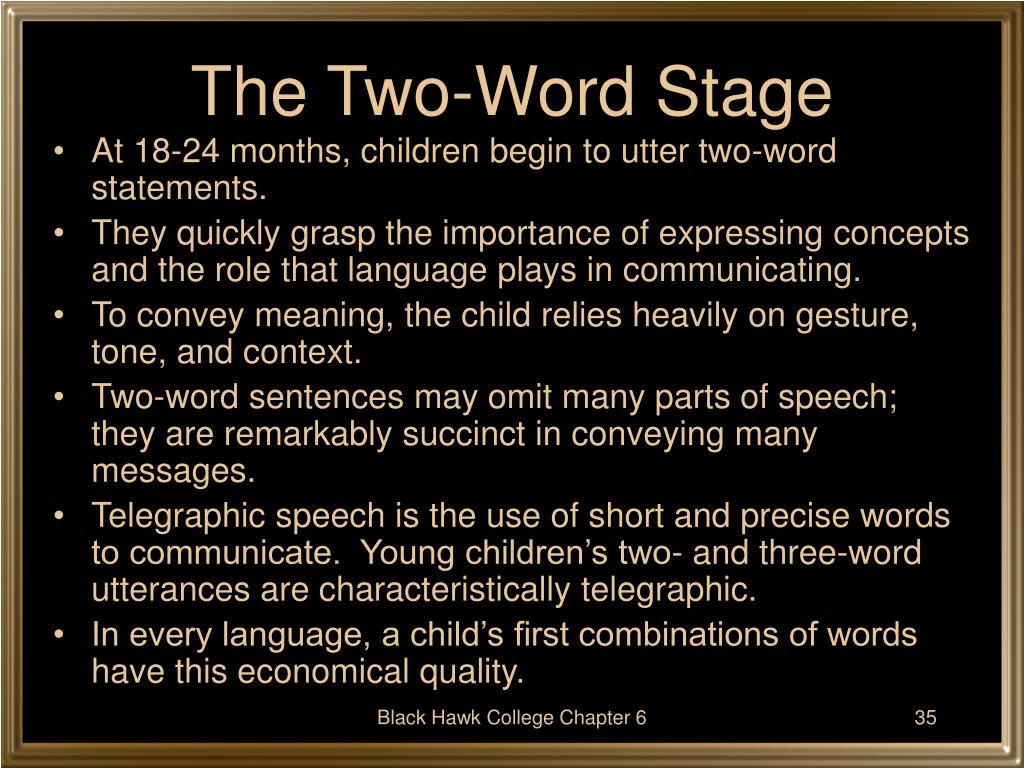 The Two-Word Stage
