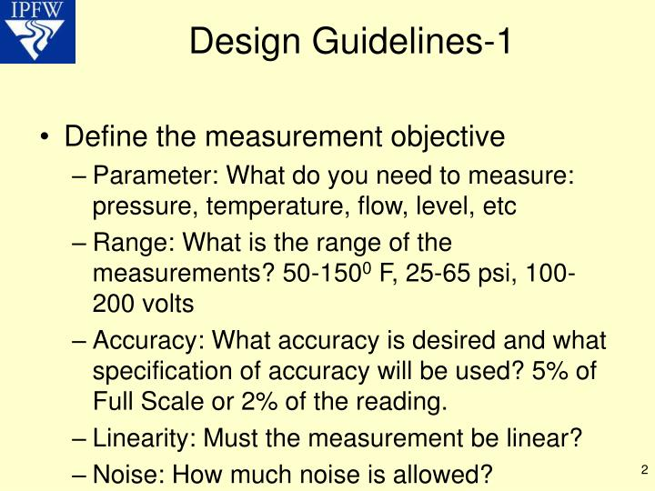 Design guidelines 1