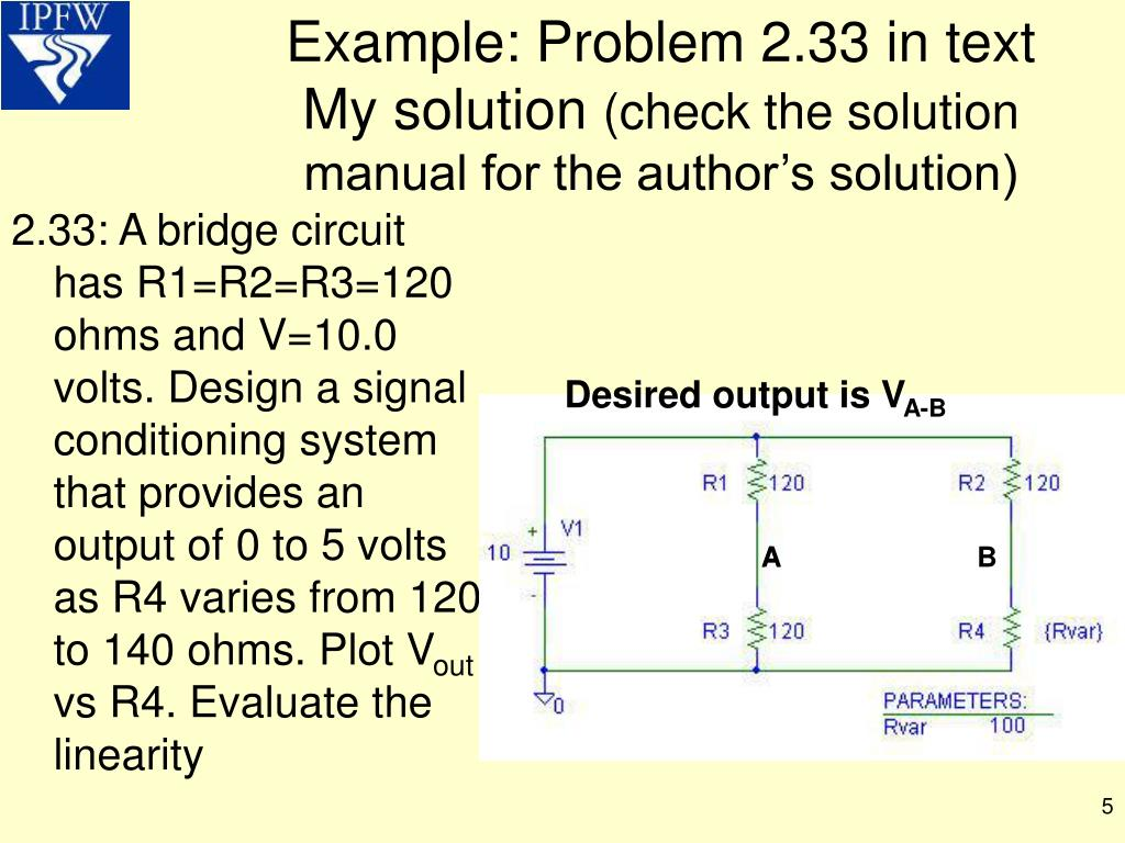 Example: Problem 2.33 in text