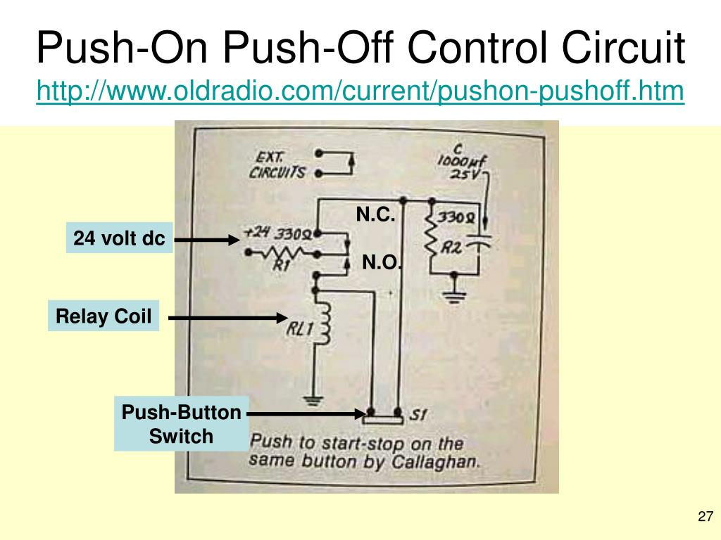 Push-On Push-Off Control Circuit