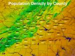 population density by county