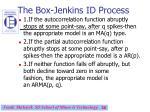 the box jenkins id process