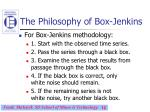 the philosophy of box jenkins12