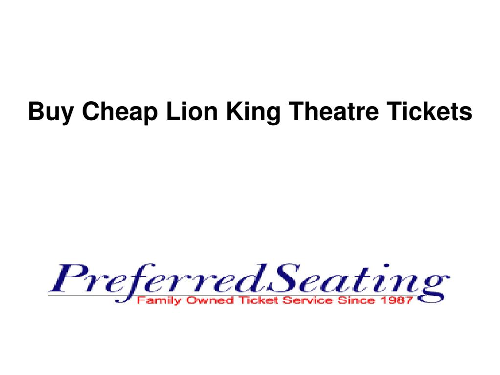 buy cheap lion king theatre tickets l.