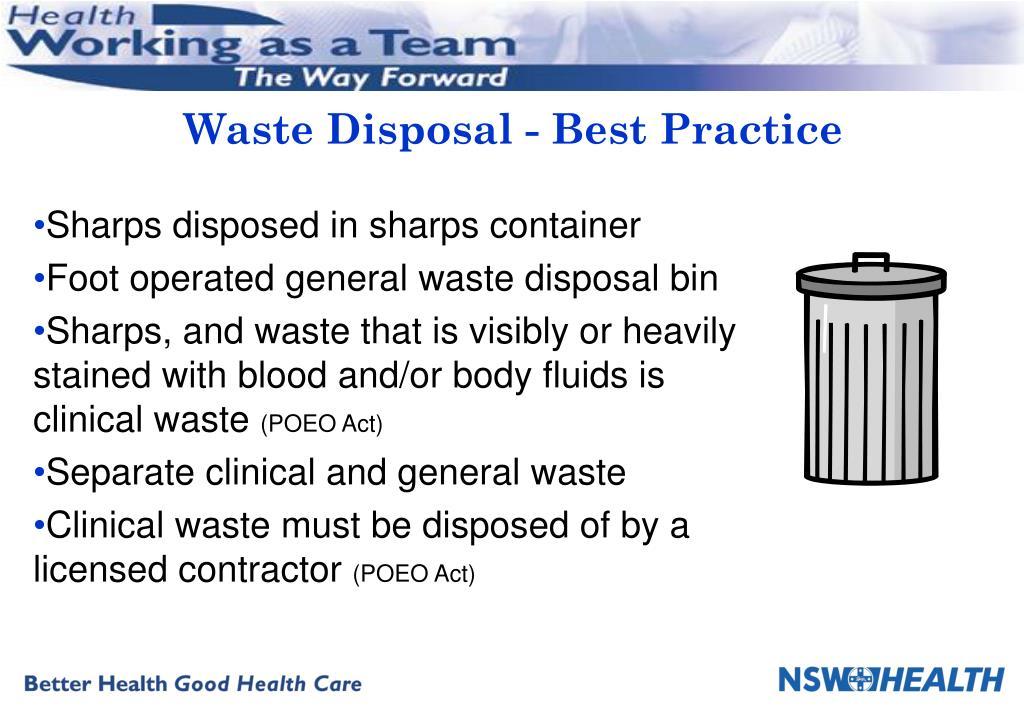 Waste Disposal - Best Practice