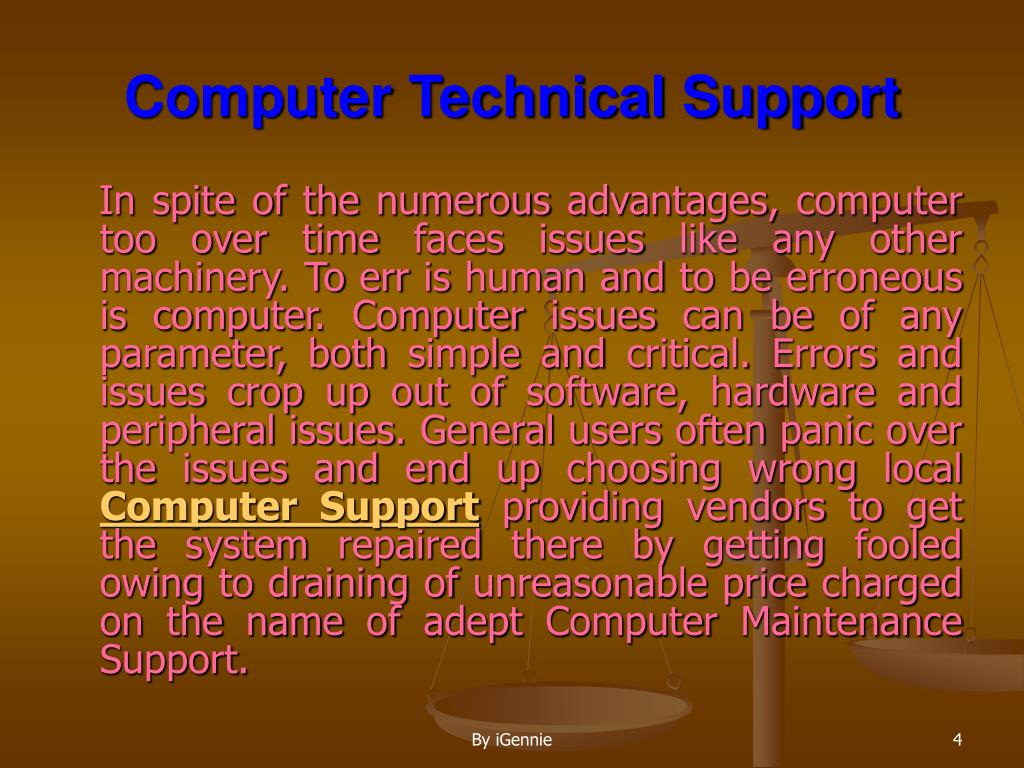 Computer Technical Support