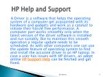 hp help and support