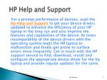 hp help and support5