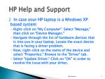 hp help and support7