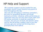 hp help and support9