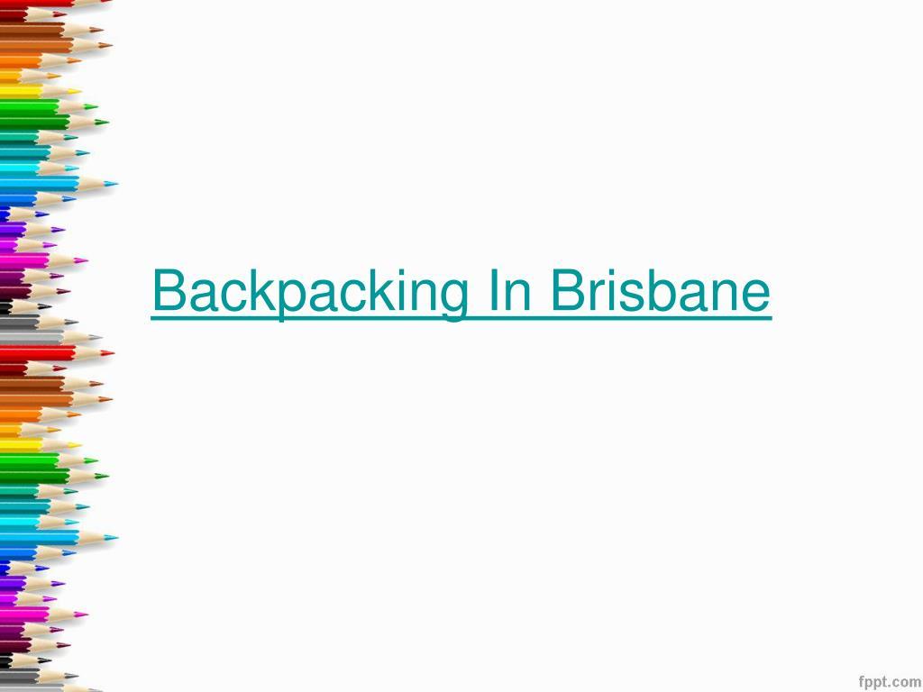 backpacking in brisbane