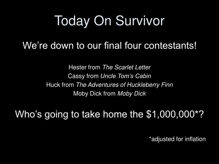 Today on survivor