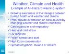 weather climate and health example of all hazard warning system
