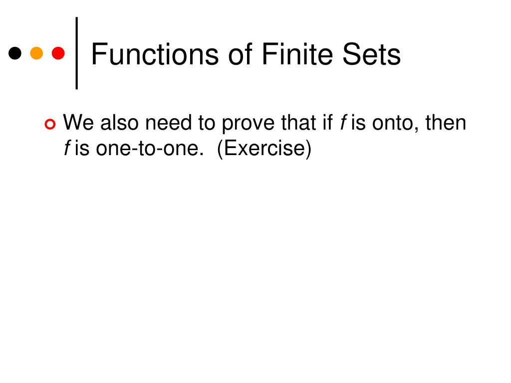 Functions of Finite Sets