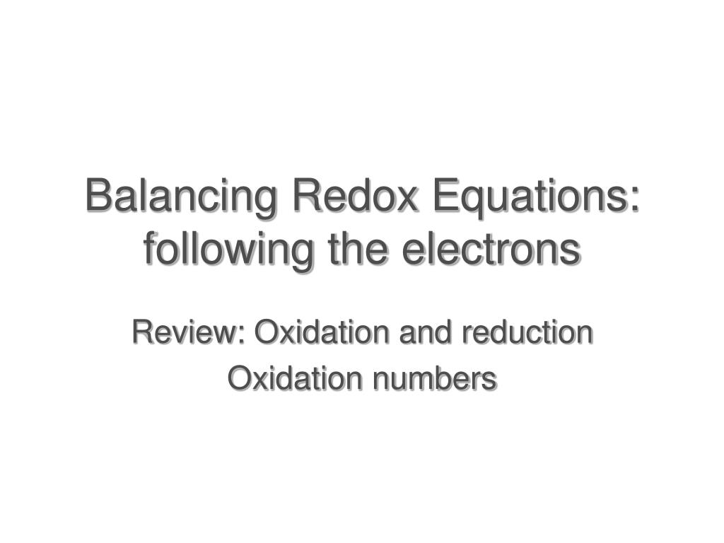 redox equilibria The program is based on equilibrium chemistry of aqueous solutions interacting with minerals, gases, solid solutions, exchangers, and sorption surfaces, which accounts for the original acronym--ph-redox-equilibrium, but the program has evolved to include the capability to model kinetic reactions and 1d (one-dimensional) transport.
