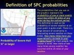 definition of spc probablities