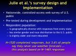 julie et al s survey design and implementation